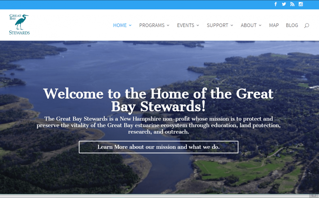 Great Bay Stewards – Nonprofit Organization – WordPress Redesign